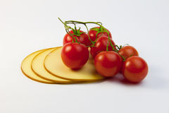 Tomatoes and cheese Royalty Free Stock Photos