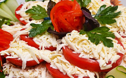 Tomatoes with cheese Royalty Free Stock Photography