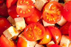 Tomatoes with cheese/ salad Royalty Free Stock Photography