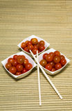 Tomatoes cherries are served Royalty Free Stock Photos