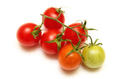 Tomatoes cherry isolated  on white Royalty Free Stock Photography