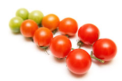 Tomatoes cherry isolated  on white Stock Photo