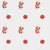 Tomatoes and cherry pattern Stock Photography