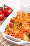Tomatoes, chicken and cheese casserole Royalty Free Stock Image