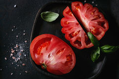 Tomatoes Coeur De Boeuf. Beefsteak tomato Royalty Free Stock Images