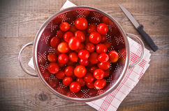 Tomatoes in colander. Royalty Free Stock Images