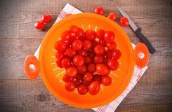 Tomatoes in colander. Royalty Free Stock Photography