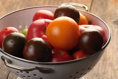 Tomatoes in a colander Royalty Free Stock Images