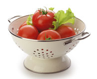 Tomatoes in the colander Royalty Free Stock Photography
