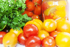 Tomatoes conservation Stock Photography