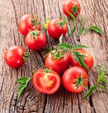 Tomatoes, cooked with herbs for the preservation Royalty Free Stock Photography