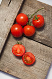 Tomatoes, cooked with herbs for the preservation Stock Photography