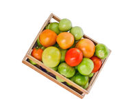 Tomatoes in crate Stock Photo