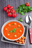 Tomatoes cream soup Stock Photos