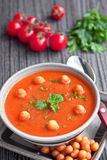 Tomatoes cream soup Stock Photography