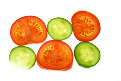 Tomatoes and cucumber Stock Image
