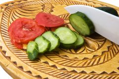 Tomatoes and cucumber Stock Photography
