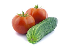 Tomatoes and cucumber Stock Photo