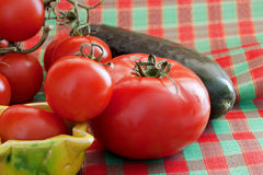 Tomatoes and cucumber Royalty Free Stock Photo