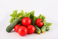 Tomatoes, cucumbers, lettuce, parsley, vegetable Stock Images