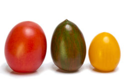 Tomatoes of different grades and color Royalty Free Stock Photos