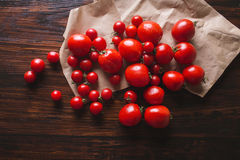 Tomatoes of different varieties. Red tomatoes Tomatoes background. Royalty Free Stock Image