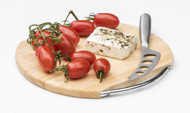 Tomatoes and Feta Cheese Royalty Free Stock Photos
