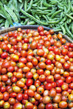 Tomatoes and French Beans, Nepal Royalty Free Stock Photo