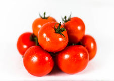 Tomatoes. Fresh red tomatoes with water drops Royalty Free Stock Photography