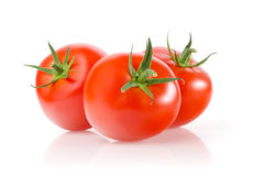 Tomatoes. Fresh Tomatoes on White Background Royalty Free Stock Images