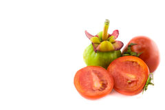 Tomatoes and Garcinia Royalty Free Stock Image