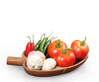 Tomatoes, garlic, and pepper Royalty Free Stock Photography