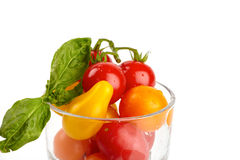 Tomatoes in a glass Royalty Free Stock Image