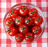 Tomatoes in a glass bowl Royalty Free Stock Photo