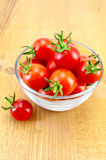 Tomatoes in a glass cup Royalty Free Stock Photos