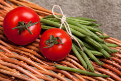 Tomatoes And Green Beans Stock Photos