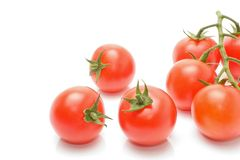 Tomatoes with green stem Stock Photography