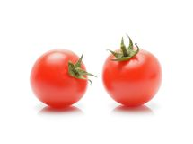 Tomatoes with green stem Royalty Free Stock Photography