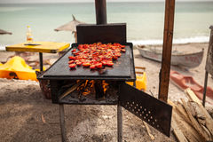 Tomatoes on grill Stock Photography
