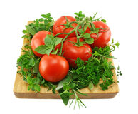 Tomatoes And Herbs Royalty Free Stock Image