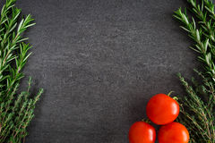 Tomatoes Herbs Stock Photography