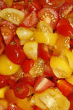 Tomatoes. Image of chopped tomatoes in glass bowl Royalty Free Stock Photo