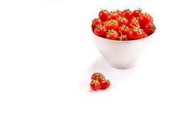Tomatoes inside white bowl Royalty Free Stock Image