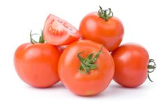 Free Tomatoes Isolated On A White Background Stock Photography - 6465542