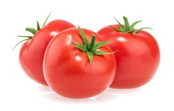 Free Tomatoes Isolated On White Background Stock Image - 112050011