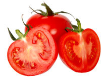Tomatoes isolated on a white background. Stock Images