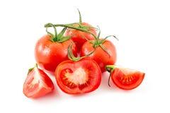 Tomatoes. Isolated on white background Royalty Free Stock Photos