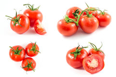 Tomatoes. Isolated on white background Stock Photo