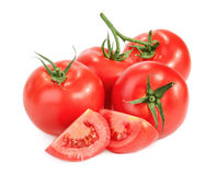 Tomatoes isolated on white Royalty Free Stock Photography
