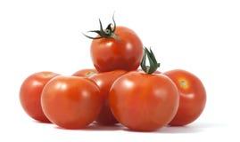 Tomatoes isolated on white background. Macro phot Royalty Free Stock Photo